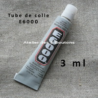 1 tube colle E6000 de 3 ml